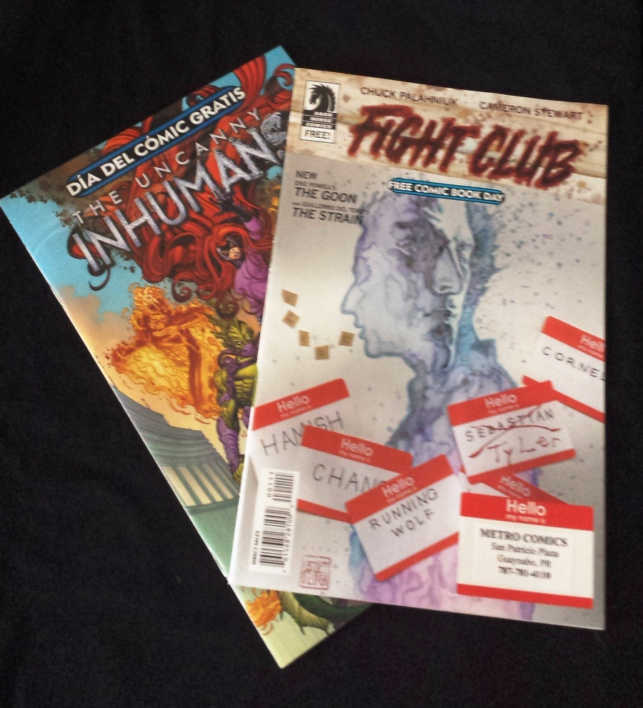 My free comics, one English, one Spanish